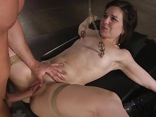 Arse fucked down submissive scenes of tits clamping bondage
