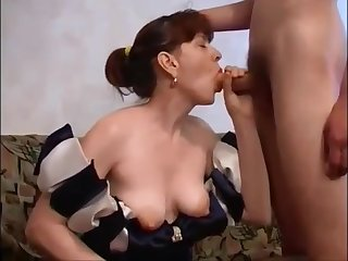 Russian Mammy With Hairy Pussy Fucks Son Essentially Couch: Mthrfkr