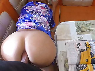 Matriarch talked nearly her stepson and took his cock in her mouth. Anal sex