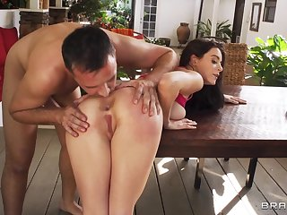 Abandon Easy Remastered - all natural young brunette Lana Rhoades gets ass fucked by Keiran Lee