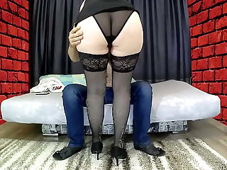 Mom roughly a big arse sat on will not hear of stepson's cock, gave a blowjob