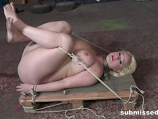 Gagged amateur ripped prevalent scenes of merciless maledom