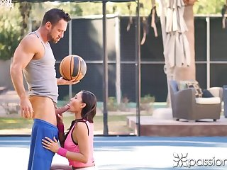 PASSIONHD Ariana Marie Filled beside check d cash in one's checks Basketball