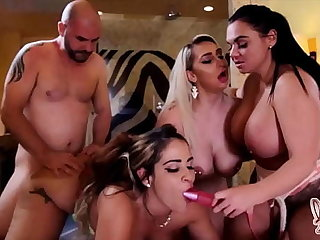 Thick Beauties Nina Kayy Miss Raquel Coupled with Betty Bang Milk Lucky Cock!