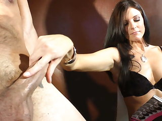 Cock cage slave gets liberation and gets milked apropos her panti