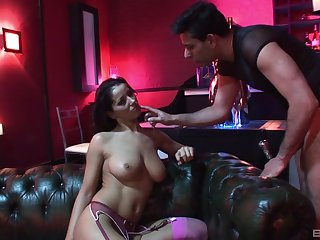 Latina with big tits Angel Dark loves getting rough fucked
