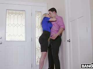 Missionary fuck is included come by wild MFF threesome with Krissy Lynn