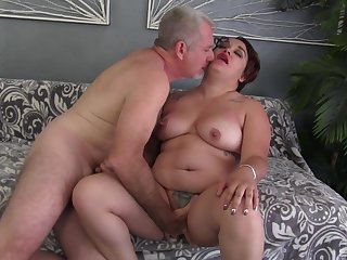 Fat unspecific drives a large dick up her pussy and indiscretion