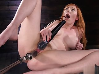 Huge heart of hearts redhead contraption banged