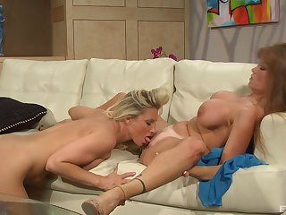 Busty mature leaves her step daughter with respect to lick and drag inflate her clit