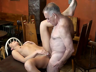Old mortality real daddy coupled with man young whore first time Can you