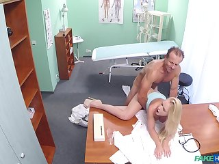 Busty young mart tries her doctor for a few sex rounds