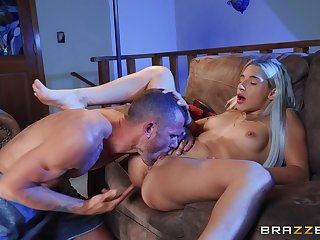 Nude blonde gets licked and fucked encircling ways she never experienced before