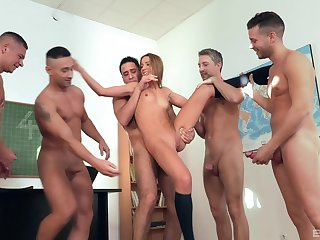 Attractive Alexis Crystal takes a lof ot dicks in her racy cunt