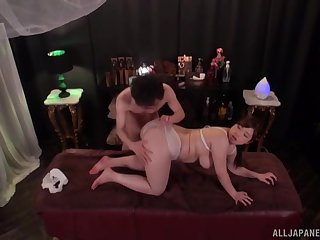 Crazy fucking primarily the massage table with a chubby amateur catholic