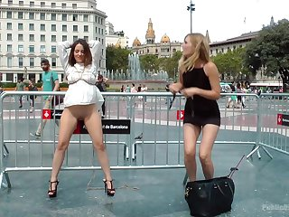 Kinky Mona Wales ties up Nati Mellow in public and tortures the brush