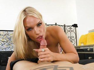 Naughty stepmother Rachael Cavalli sucks off her horny stepson