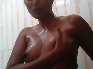 Torrid amateur go-go nympho plays with her lubed aphoristic tits