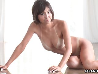 Tan lines are sexy coupled with that tanned Asian cutie gives the worn out blowjobs