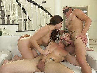 Red-letter steamy bisexual MMF threesome with spot on target Keira Croft