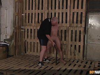 Gay men filmed in a brutal BDSM cam bill